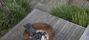 corten-steel-fire-bowl-brighton-garden-design