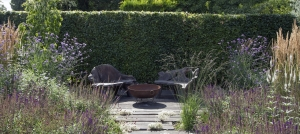 corten-steel-fire-bowl-natural-style-planting-scheme
